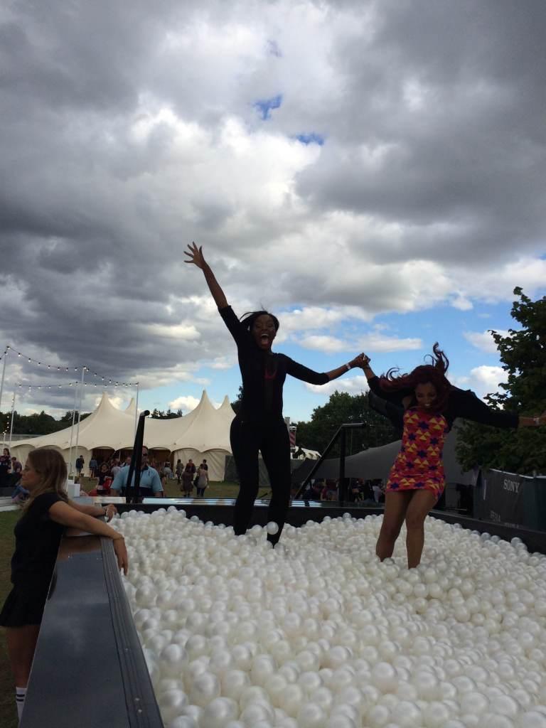 Jumping for joy at V Festival
