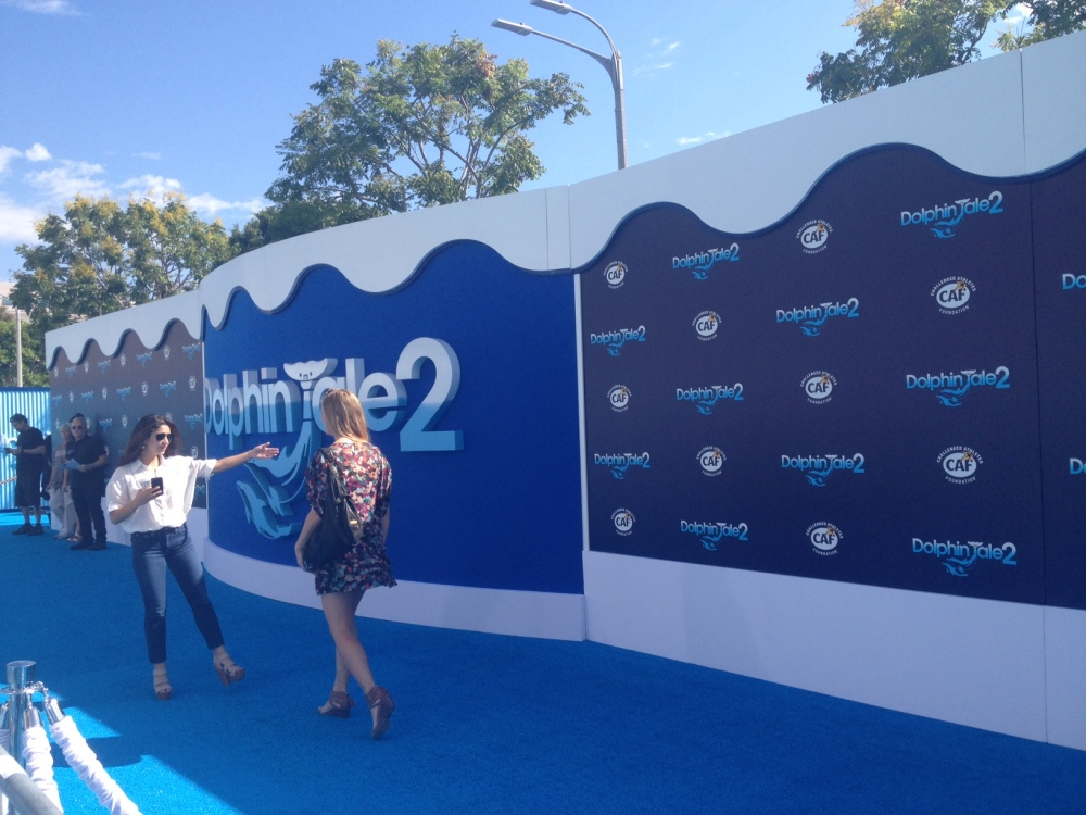 Dolphin Tale 2 carpet before the stars arrived