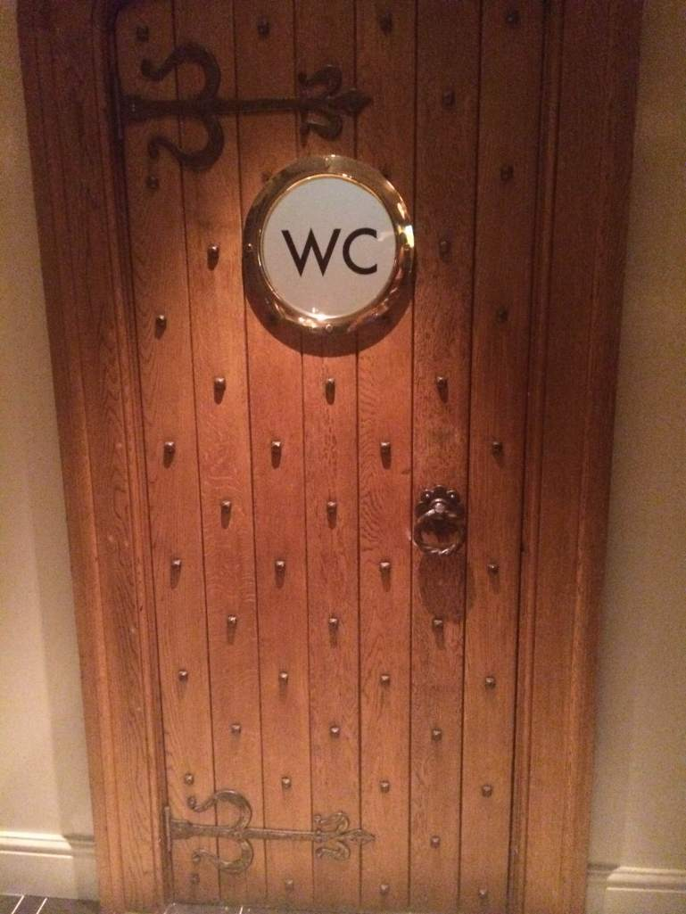 Cute restroom door