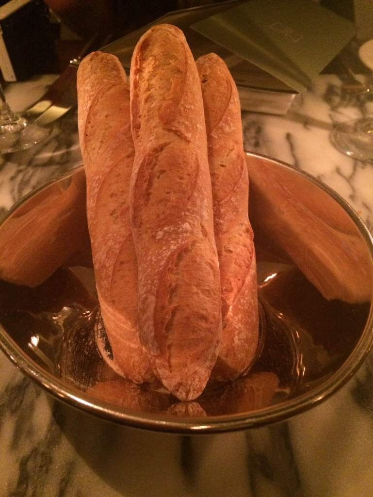 Crusty French baguettes