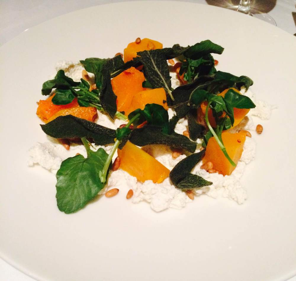Squash and ricotta with fennel salad