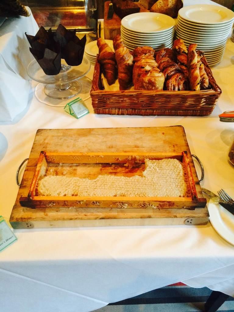 Yum... fresh honey at the breakfast buffet
