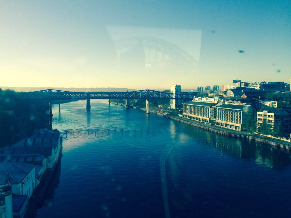View of the river Tyne from East Coast Rail